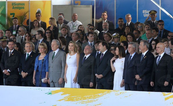 Marcela Temer ao lado de Michel Temer (Foto: Agência Brasil)