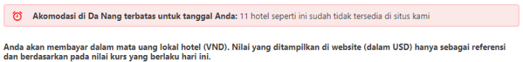Halaman profil hotel di booking.com