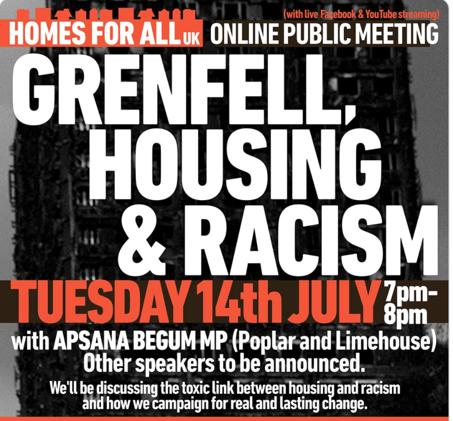 Shock, hypocrisy, as London housing activism group @Homes4AllUK provide platform for social cleansing.
