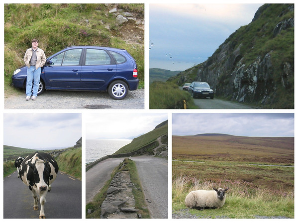 Driving Ireland collage
