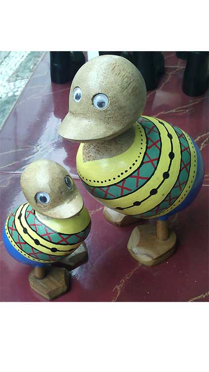 Cute Wooden Ducks