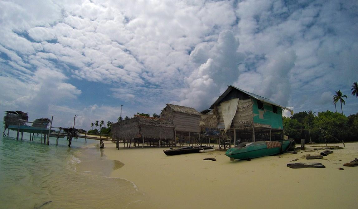 Semporna - Borneo - Malaysia - Dorf auf der Insel