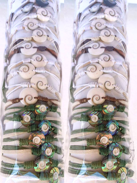 Shiva Eye Bracelet US$ 0.43 Abalone Shell Bracelets US$ 0.60 Subject to change.