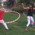 Hula hoop ninja girls!
