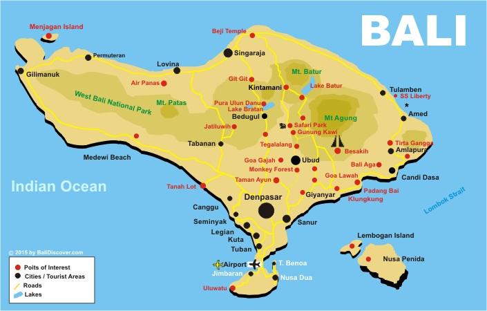 Bali map bali discover bali map gumiabroncs Choice Image
