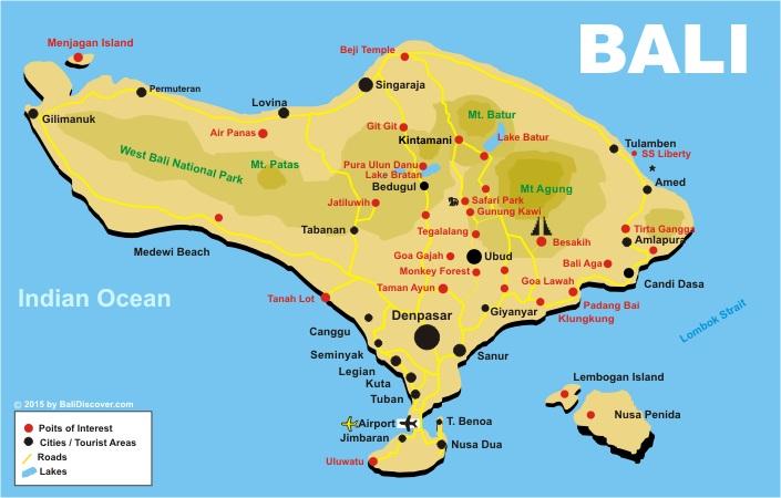 Bali bali discover bali map gumiabroncs Gallery