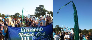 Lyrebirds Netball Flag