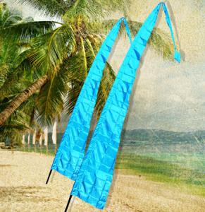 4m BALI FLAG - AQUA