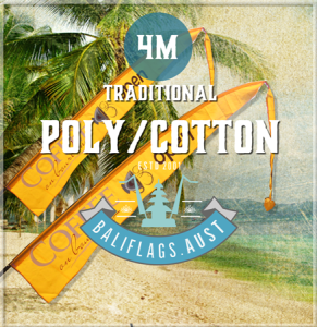 Traditional Poly/Cotton Bali Flags