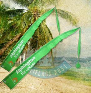 4m Bali Flag Poly/Cotton - Green