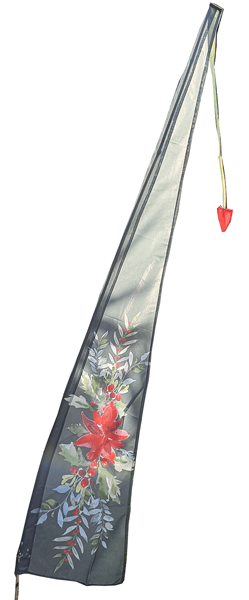 Christmas Flag with floral design