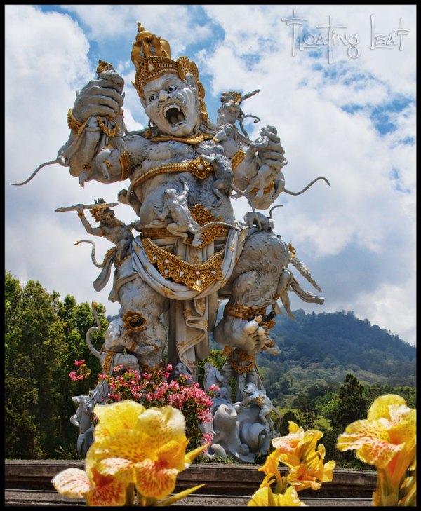 Astounding Bali Art Monstrous Monkey Sculpture - Floating Leaf