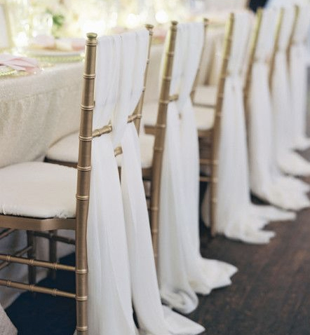 tiffany wedding chairs wheelchair gif gold champagne chair with ribbon in bali flower decor