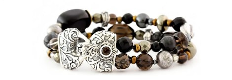 Bali silver product photography with beads