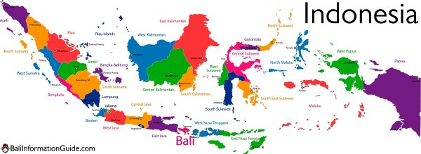 Where is Bali Indonesia Detailed Maps of the island of region