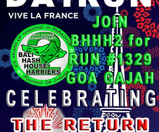 Bali Hash 2 Bastille Day Run 2017
