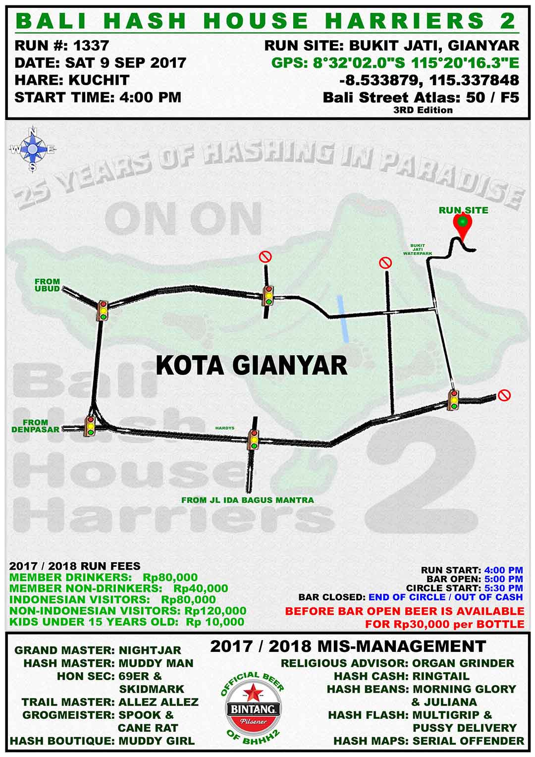 BHHH2 Run 1337 Bukit Jati Gianyar 9-Sep-17