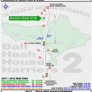 BHHH2 Next Run Map 149 St. Andrews Day Run @ Tegalalang