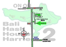 BHHH2 Next Run Map #1372 Pura Taman Pule, MAS, Ubud 12-Mei-18