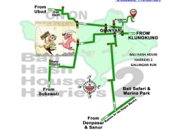 Bali Hash House Harriers 2 BHHH2 Next Run Map #1375 Bukit Jati Gianyar