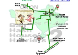 BHHH2 Next Run Map #1375 Bukit Jati Gianyar 2-Jun-18