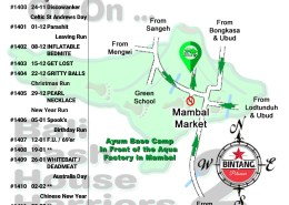 Bali Hash 2 Next Run Map #1399 Aqua Factory Mambal Ubud 17-Oct-18