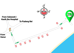 Bali Hash 2 Next Run Map #1403 Pantai Saba 15-Dec-18