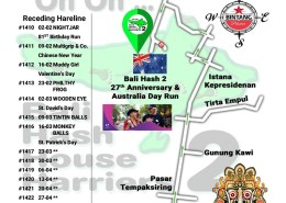 Bali Hash 2 Next Run Map #1409 Tempaksiring 26-Jan-19
