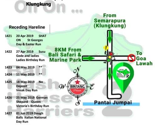 Bali Hash 2 Next Run Map #1420 Pantai Jumpai Klungkung