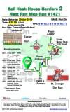Bali Hash 2 Next Run Map #1421 Taman Rama Jimbaran