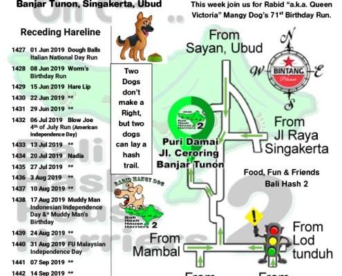 Bali Hash 2 Next Run Map #1426 Puri Damai Br Demayu