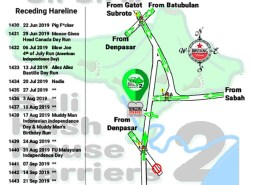 Bali Hash 2 Next Run Map #1429 Hong Kong Garden Kesiman