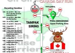 Bali Hash 2 Next Run Map #1431 Pura Mengening Tampaksiring Canada Day Run