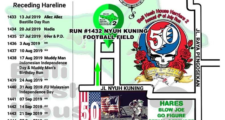 Bali Hash 2 Next Run Map #1432 Nyuh Kuning Football Field 4th of July Run