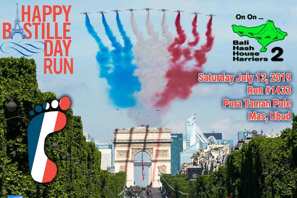 Bali Hash 2 Bastille Day Run 2019