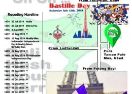 Bali Hash 2 Next Run Map #1433 Pura Taman Pule Mas Ubud Bastille Day Run