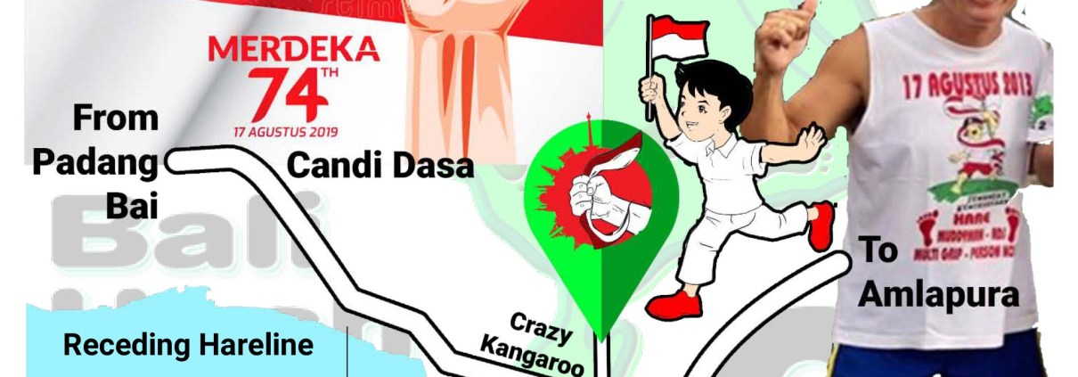 Bali Hash 2 Next Run Map #1438 Hari Merdeka Run Candi Dasa