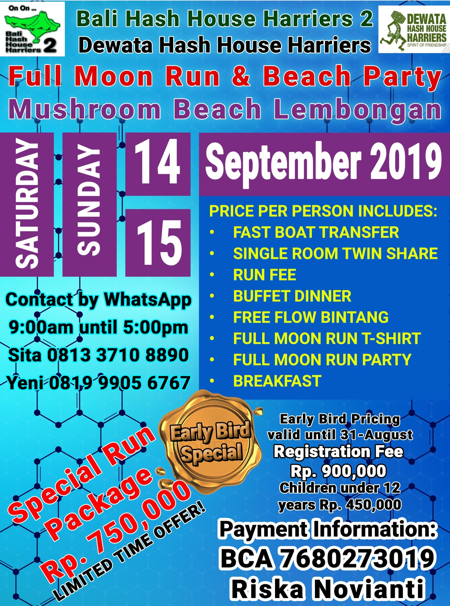 A Full Moon Run & Beach Party at Mushroom Beach