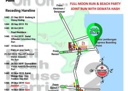 Bali Hash 2 Next Run Map #1442 Full Moon Run & Beach Party Tanis Lembongan