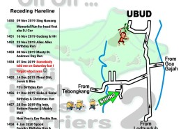 Bali Hash 2 Next Run Map #1449 Nyuh Kuning Ubud