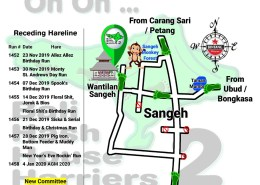 Bali Hash 2 Next Run Map #1451 Wantilan Sangeh