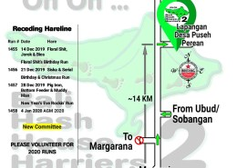 Bali Hash 2 Next Run Map #1454 Lapangan Puseh Perean