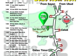 Bali Hash 2 Next Run Map #1458 Bali Bird Park AGM Run