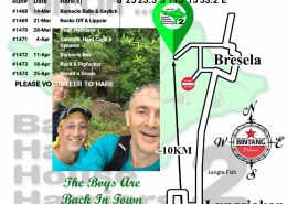 Bali Hash House Harriers 2 Next Run Map #1467 Bresela - Kelusa