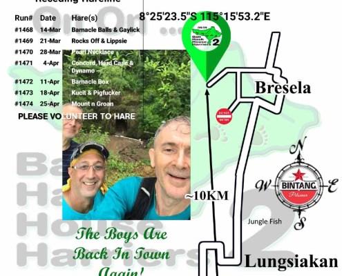 Bali Hash House Harriers 2 Next Run Map #1467 Bresela - Kelusa