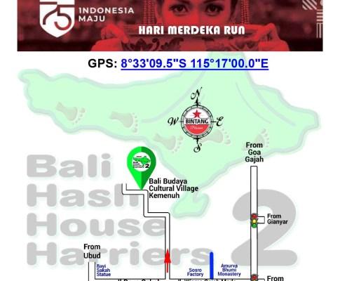 Bali Hash 2 Next Run Map #1470 Bali Budaya Cultural Village Kemenuh