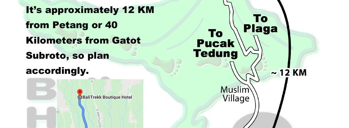 Bali Hash 2 Next Run Map #1472 Bali Trekk Auman