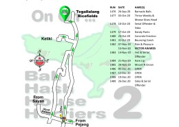 Bali Hash 2 Next Run Map #1475 The Kawi Resto