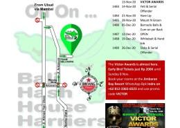Bali Hash 2 Next Run Map #1482 PDAM Tirta Wening Belusung Peguyangan