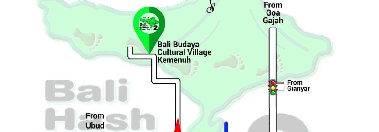 Bali Hash 2 Next Run Map #1488 Bali Budaya Cultural Village 27-Feb-21